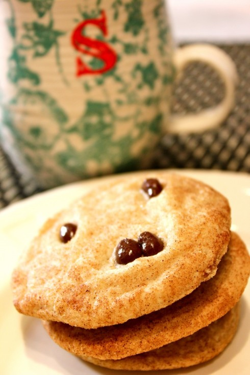 Add some Dark Chocolate Pomegranate Seeds on top of your snickerdoodle for some extra Kick!